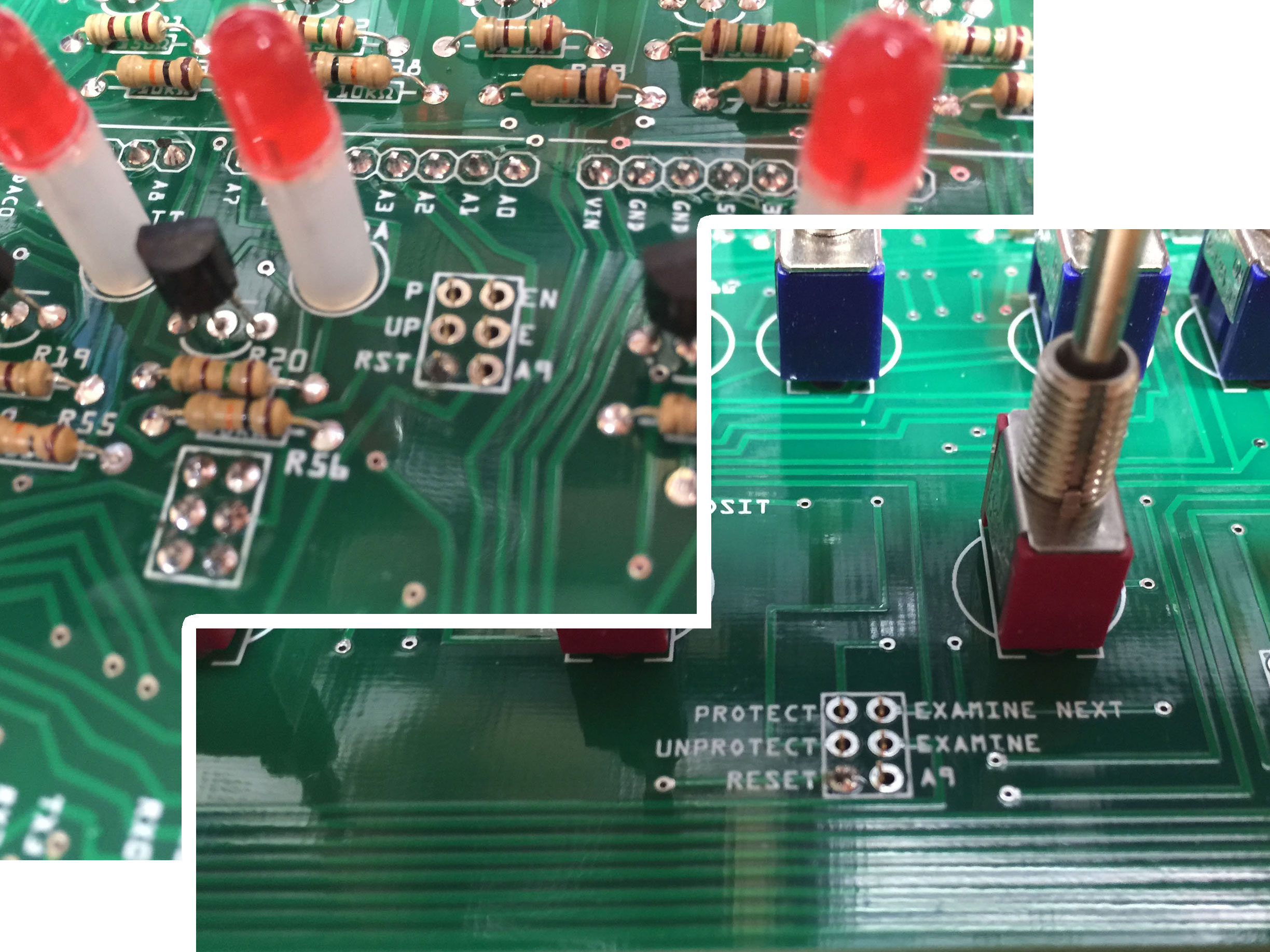 Build Instructions Adwater Stir You Can Use This Circuit To Check A Cable Printed Board Or Were Going Install The Six Pin Ribbon On Underside Of Pc Upper Side See Labels Pictured Here